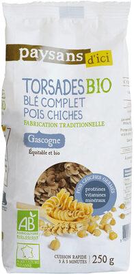 Torsades bio au blé complet et pois chiches - Product - fr