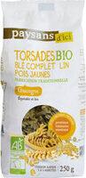 Torsades bio blé complet lin pois jaunes - Product - fr