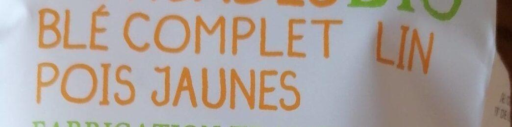 Torsades bio blé complet lin pois jaunes - Ingredients - fr