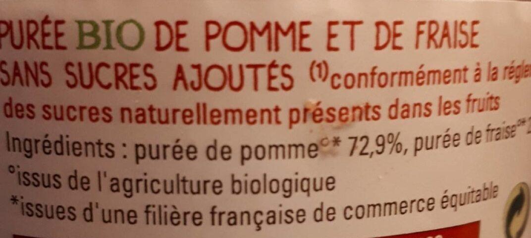 Purée bio Pomme Fraise - Inhaltsstoffe - fr