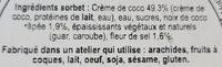 Sorbet noix de coco - Ingredients - fr