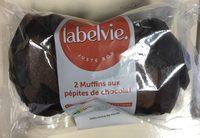 2 muffins pepite chocolat - Produit - fr