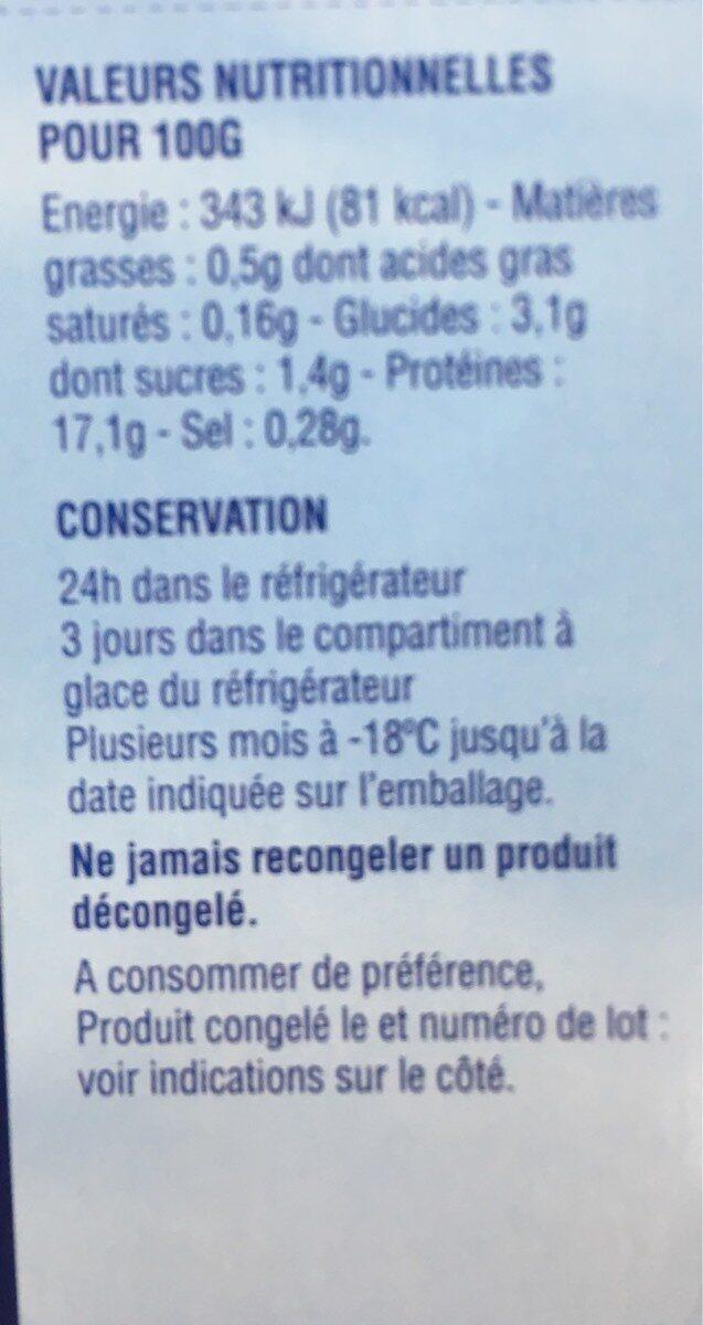 Noix de saint jacques - Informations nutritionnelles - fr