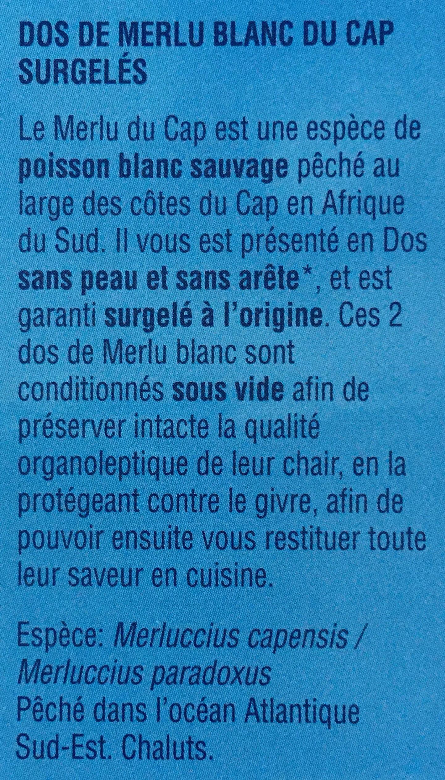 Dos de merlu blanc du cap - Ingrédients - fr