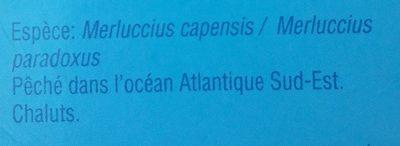 4 Dos de Merlu blanc du Cap - Ingrédients - fr