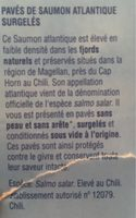 Pavés de saumon Atlantique - Ingrédients - fr