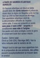 4 paves de saumon atlantique - Ingrédients - fr