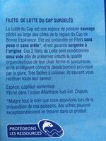 Filets de lotte du Cap - Ingrédients - fr