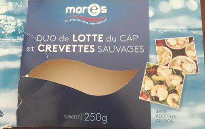 Duo de lotte du Cap et crevettes sauvages - Produit