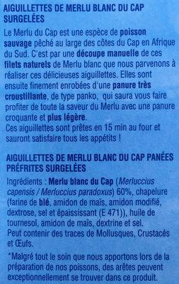 Aiguillettes de merlu blanc - Ingrédients - fr