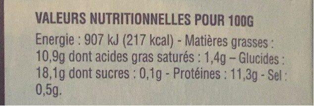 Aiguillettes de merlu blanc - Informations nutritionnelles - fr