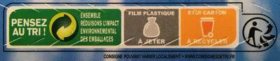 Pavés de morue de l'Atlantique avec peau et sans arête - Instruction de recyclage et/ou informations d'emballage