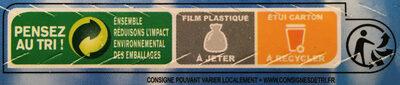 Crevettes tropicales entières crues - Instruction de recyclage et/ou informations d'emballage - fr