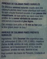 Anneaux de calamar panés - Ingrédients - fr