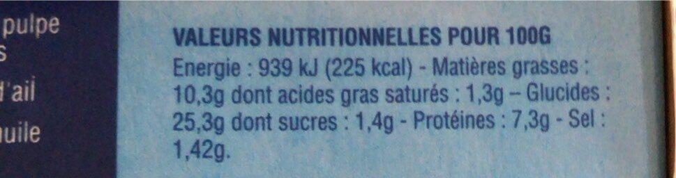 Anneaux de calamar panés - Informations nutritionnelles - fr