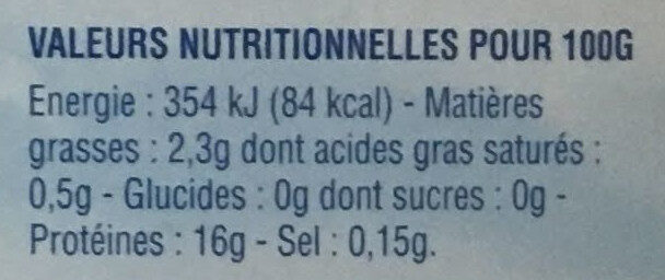 Filets Dorade-Sébaste avec peau MSC - Voedingswaarden - fr