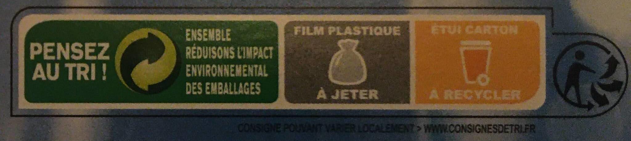 Coeurs de filets de cabillaud de l'Atlantique - Instruction de recyclage et/ou informations d'emballage - fr
