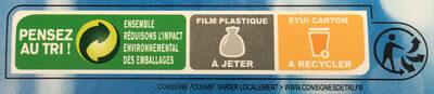 Cœurs de filets de merlu blancs du cap - Instruction de recyclage et/ou informations d'emballage