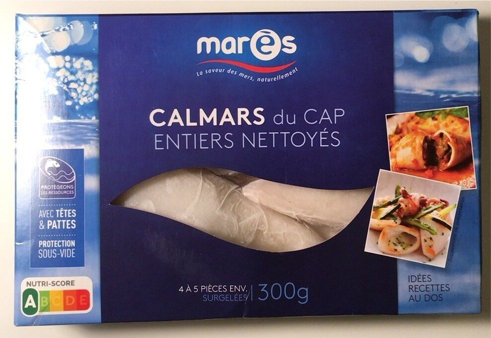Calmars du Cap nettoyés - Produit - fr