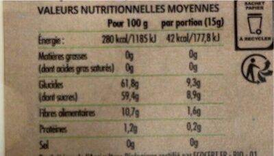 Fruit Ride Pomme - Nutrition facts - fr
