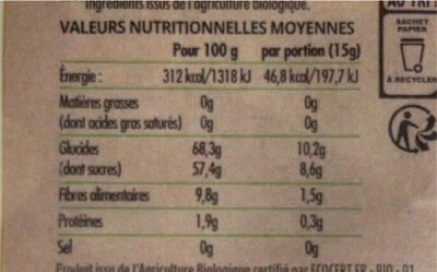 Fruit Ride Mangue pomme - Nutrition facts - fr