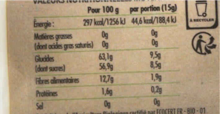 Fruit Ride Myrtille pomme - Nutrition facts - fr