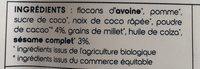 Granola choco boost - Ingrediënten