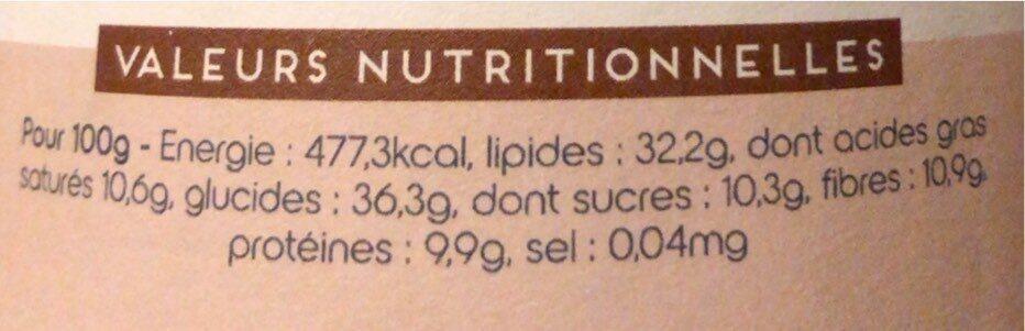 Pâte à tartiner au granola - Informations nutritionnelles - fr