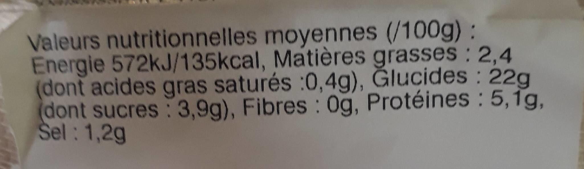 Gyoza crevettes 7 pièces - Nutrition facts - fr