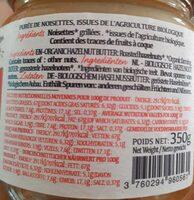 Purée de noisettes 100%grillées - Informations nutritionnelles - en