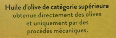 Huile d'olive - Ingredients - fr