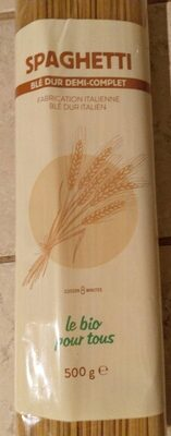 Spaghetti blé dur demi complet - Produit - fr