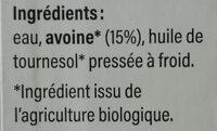 Boisson d'avoine - Ingredienti - fr