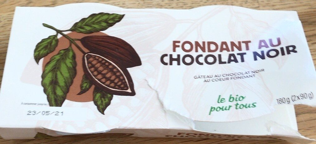 Fondant au chocolat noir - Produit - fr