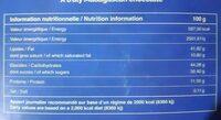 Chocolat 63% éclats de fèves & fleur de sel - Informations nutritionnelles - fr