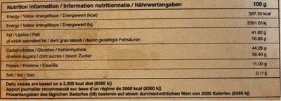 Combava et pink pepper - Voedingswaarden - fr