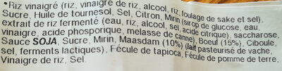 Riz et brochette yakitori Boeuf Fromage - Ingrédients
