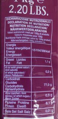 Riz basmati - Informations nutritionnelles - fr