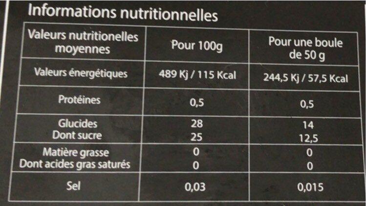 Sorbet melon charentais - Informations nutritionnelles - fr