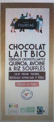 Chocolat au lait et aux cereales bio et equitable 100g - Prodotto - fr