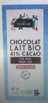 Chocolat au lait 41% bio et equitable 100g - Prodotto - fr