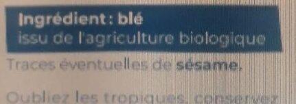 Farine de blé Bio T65 1Kg - Ingrédients - fr