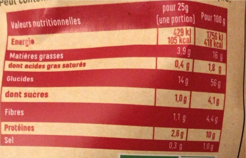 L'apéro Boules - Informations nutritionnelles - fr