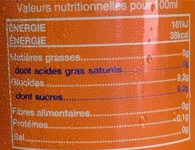 Sunkist Ginger/Agrum - Informations nutritionnelles - fr