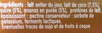 Yaourt - Ingrediënten