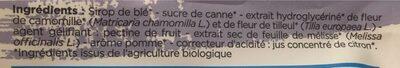 Complément Alimentaire à Base Mélisse, Camomille,Tilleul - Ingrediënten - fr