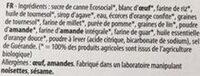 Moelleux Bio - orange douce - Ingredients - fr