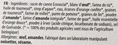 Moelleux Bio - orange douce - Ingrédients - fr