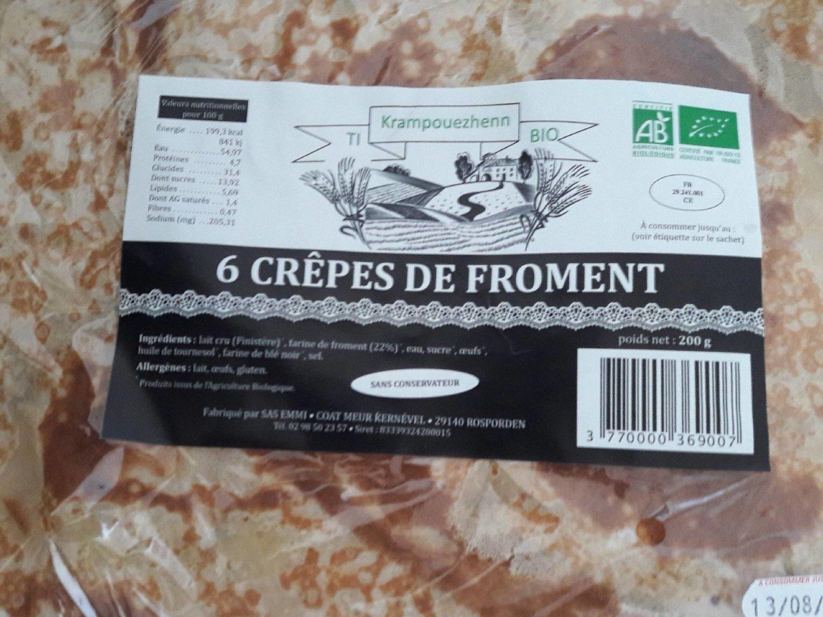 6 crêpes de froment - Produit - fr