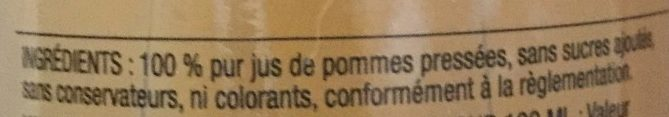 Jus de Pomme - Ingredients - fr